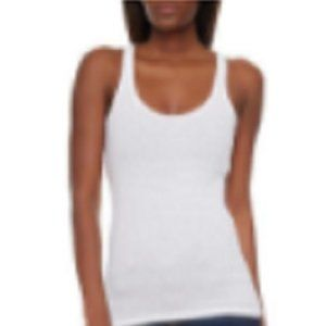 Rainbow Shops Solid Ribbed Tank Top White Sz S NEW